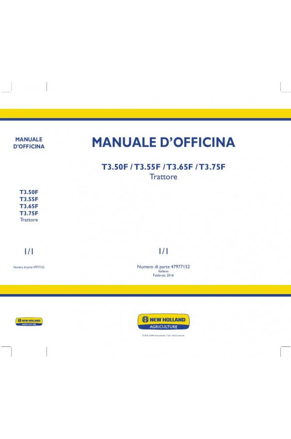 New Holland T3 50F, T3 55F, T3 65F, T3 75F Service Manual