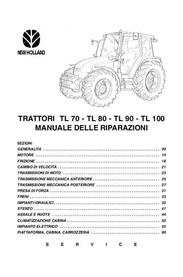 New Holland Tl100  Tl70  Tl80  Tl90 Service Manual