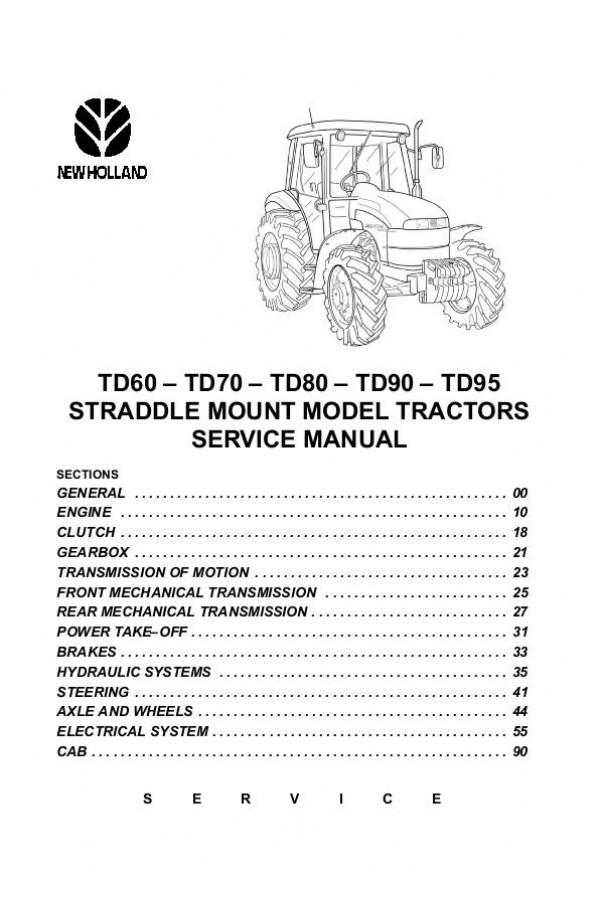 new holland td70 td80 td90 td95 service manual rh heavymanuals com New Holland TN70 Service Manual New Holland Service Manuals PDF