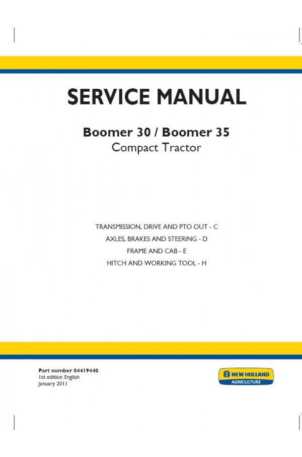 New holland boomer 30 service manual
