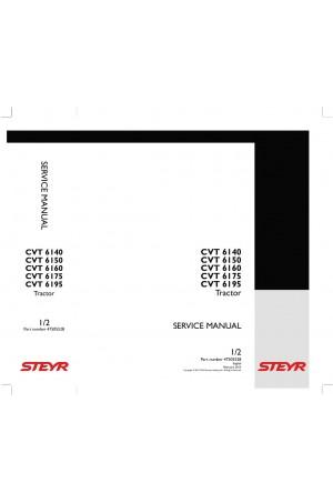 Steyr 6140 CVT, 6150 CVT, 6160 CVT, 6175 CVT, 6195 CVT Service Manual