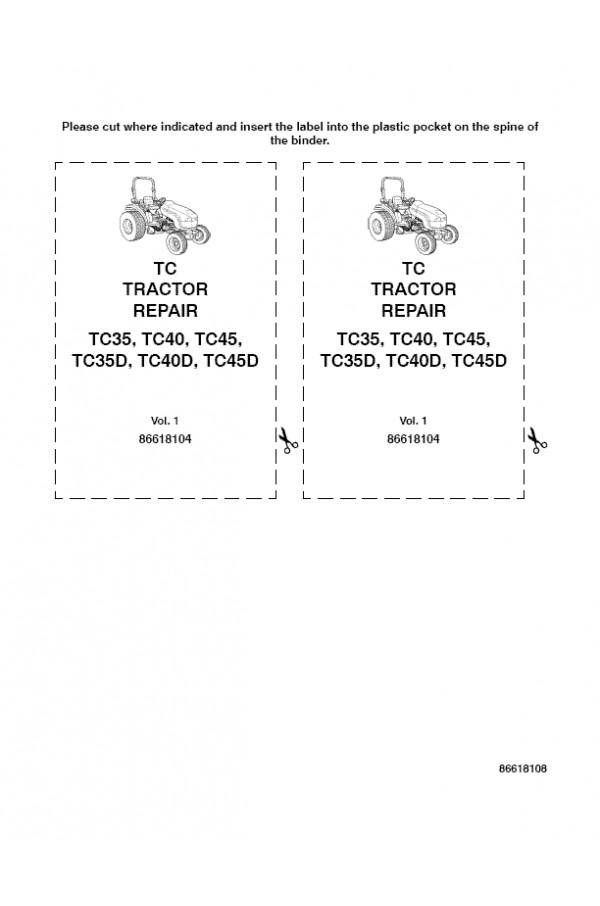new holland tc35, tc35d, tc40, tc40d, tc45, tc45d service manual new holland sickle mower parts new holland tc35 wiring diagram #14