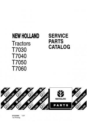 New Holland T7030, T7040, T7050, T7060 Parts Catalog